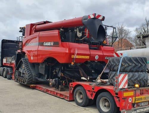 transport agabaritic international combine agricole